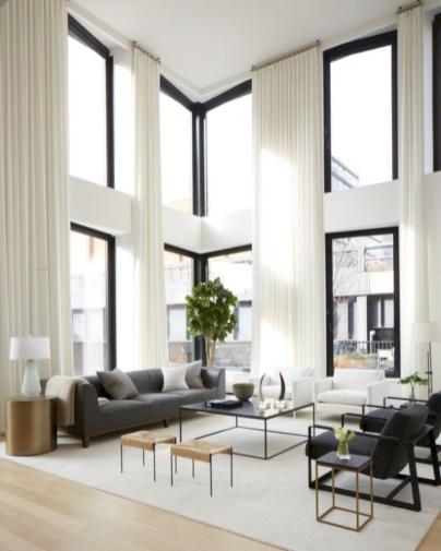 White furniture living room ideas for apartments 43