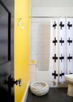 Yellow tile bathroom paint colors ideas (10)