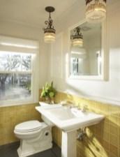 Yellow tile bathroom paint colors ideas (17)