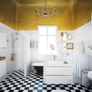 Yellow tile bathroom paint colors ideas (20)