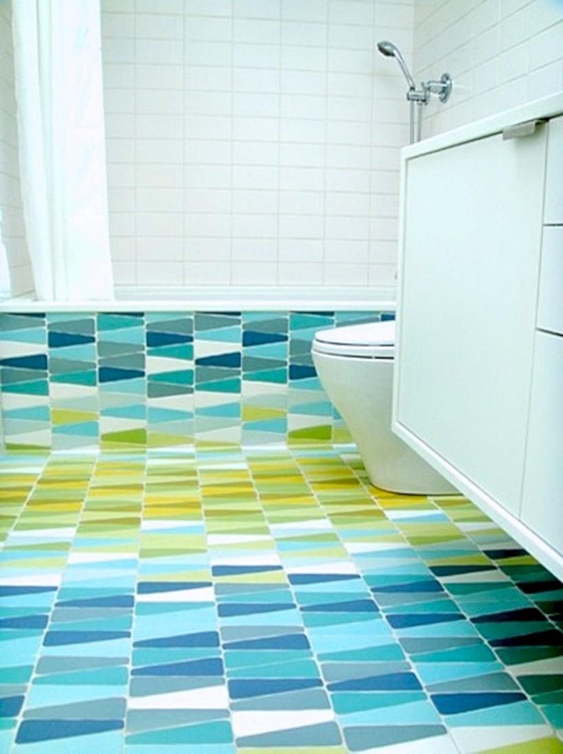 Yellow tile bathroom paint colors ideas (28)