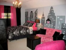 Cool kids bedroom with pink colour 06