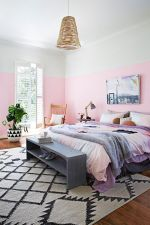Cool kids bedroom with pink colour 09
