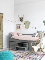 Cool kids bedroom with pink colour 11