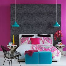 Cool kids bedroom with pink colour 14