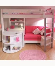 Cool kids bedroom with pink colour 17