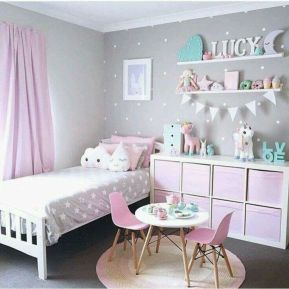 Cool kids bedroom with pink colour 22