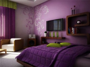 Cool kids bedroom with pink colour 39