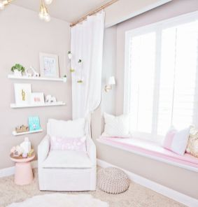 Cool kids bedroom with pink colour 50