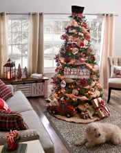 Beautiful scandinavian christmas tree decoration ideas 13