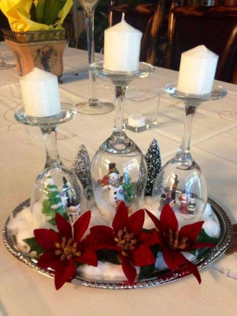 Creative Diy Christmas Table Centerpieces Ideas 14 Roundecor