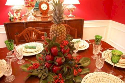 Easy christmas fruit tree centerpieces ideas 32