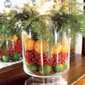 Easy christmas fruit tree centerpieces ideas 40