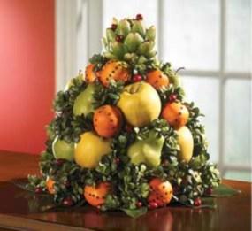 Easy christmas fruit tree centerpieces ideas 42