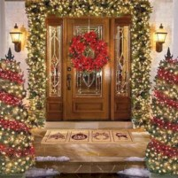 Easy outdoor christmas decorations ideas on a budget 02