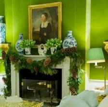 Elegant white fireplace christmas decoration ideas 30