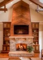 Elegant white fireplace christmas decoration ideas 34