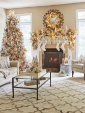 Elegant white fireplace christmas decoration ideas 36