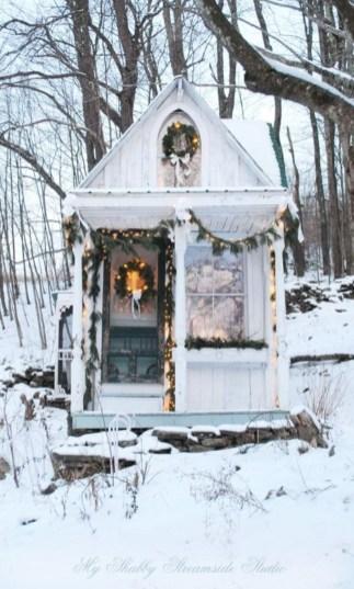 Inspiring chabby chic christmas decoration ideas 32
