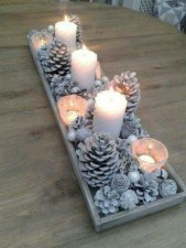 Minimalist christmas coffee table centerpiece ideas 17