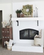 Modern farmhouse fireplace christmas decoration ideas 02