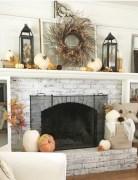 Modern farmhouse fireplace christmas decoration ideas 03
