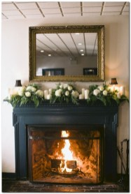 Modern farmhouse fireplace christmas decoration ideas 06