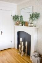 Modern farmhouse fireplace christmas decoration ideas 19