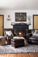 Modern farmhouse fireplace christmas decoration ideas 20