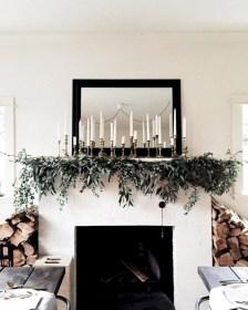 Modern farmhouse fireplace christmas decoration ideas 24