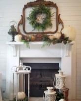 Modern farmhouse fireplace christmas decoration ideas 34