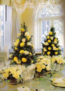 Romantic christmas tree wedding centerpieces ideas 04