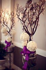 Romantic christmas tree wedding centerpieces ideas 05
