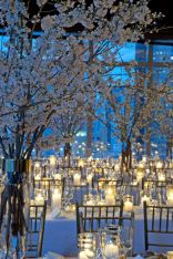Romantic christmas tree wedding centerpieces ideas 07