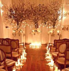 Romantic christmas tree wedding centerpieces ideas 11