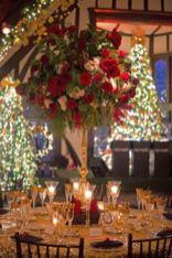 Romantic christmas tree wedding centerpieces ideas 12