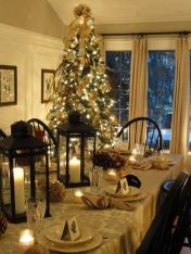 Romantic christmas tree wedding centerpieces ideas 13