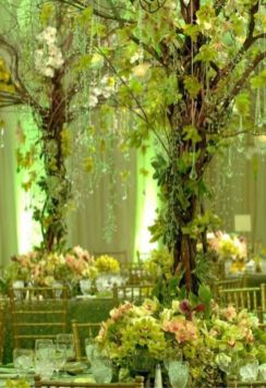 Romantic christmas tree wedding centerpieces ideas 15