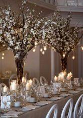 Romantic christmas tree wedding centerpieces ideas 34