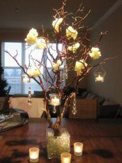 Romantic christmas tree wedding centerpieces ideas 35