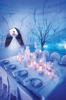 Spectacular winter wonderland wedding decoration ideas (17)