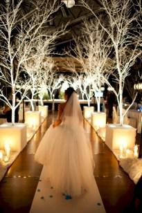 Spectacular winter wonderland wedding decoration ideas (28)