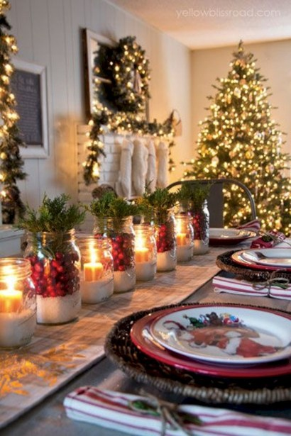 Stylish christmas centerpieces ideas with ornaments 01