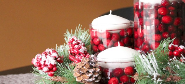 Stylish christmas centerpieces ideas with ornaments 07