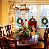 Stylish christmas centerpieces ideas with ornaments 11