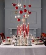 Stylish christmas centerpieces ideas with ornaments 18