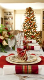 Stylish christmas centerpieces ideas with ornaments 22