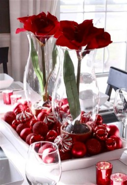 Stylish christmas centerpieces ideas with ornaments 28