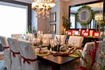 Stylish christmas centerpieces ideas with ornaments 35