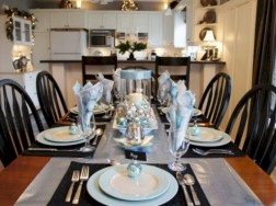 Stylish silver and white christmas table centerpieces ideas 20
